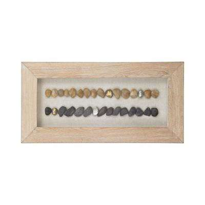 Broughton Beach 16 in. x 31 in. Wood And Stone Shadow Box Wall Art