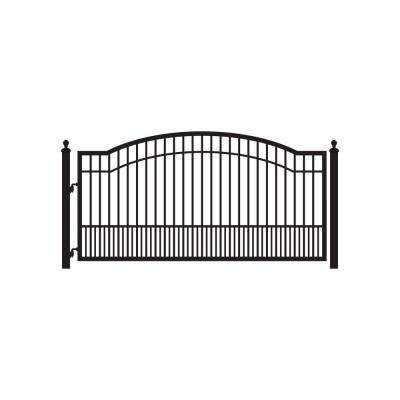 Biscayne 12 ft. W x 5 ft. H 6 in. Powder Coated Steel Single Driveway Fence Gate