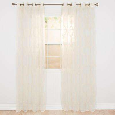 Sheer Elisa Embroidered Curtain