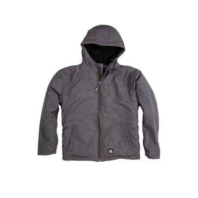 Men's Cotton and Polyester Ripstop Hooded Jacket