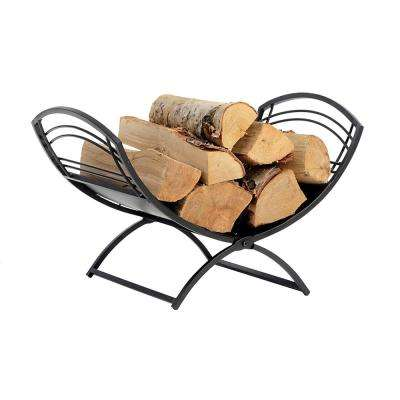 1 ft. D x 1 ft. H x 2 ft. W Classic Decorative Steel Firewood Rack with No Assembly Required
