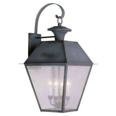 Providence Wall-Mount 4-Light Outdoor Charcoal Incandescent Lantern