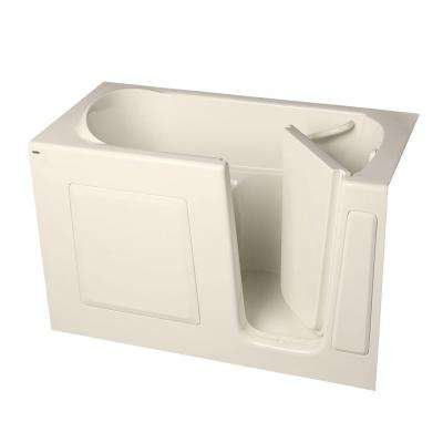 Gelcoat 5 ft. Walk-In Bathtub with Right Drain in Linen