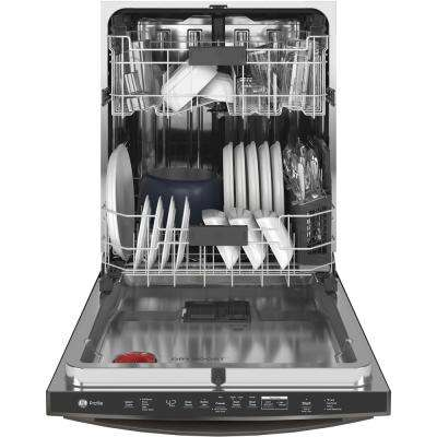 Profile Top Control Tall Tub Dishwasher in Black Stainless Steel with Stainless Steel Tub and Steam Cleaning, 42 dBA