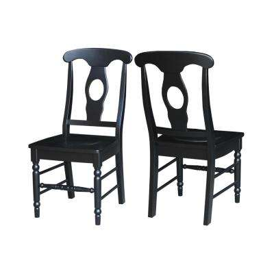 Pair of Empire Chairs in Black