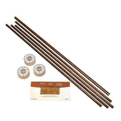 Large Profile Backsplash Accessory Kit with Tape in Antique Bronze