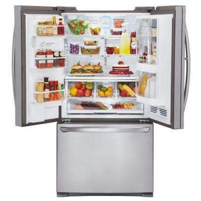 28.5 cu. ft. French Door Refrigerator with Door-in-Door and Dual Ice Makers in Stainless Steel