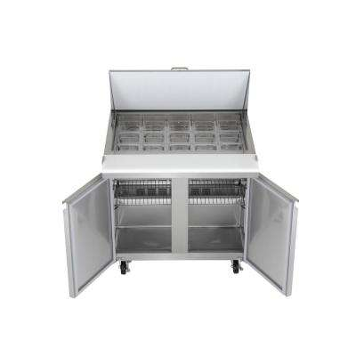 37 in. W, 7.6 cu. ft. Mega Top Sandwich/Salad Prep Commercial Refrigerator in Stainless Steel