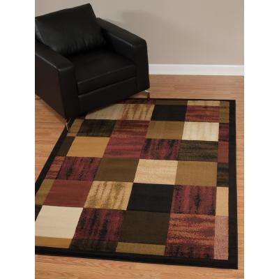 China Garden Painted Blocks Auburn 7 ft. 10 in. x 10 ft. 6 in. Area Rug