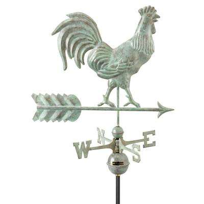 Smithsonian Rooster Weathervane - Blue Verde Copper