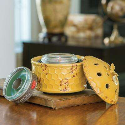 8.2 in. Honeybee Candle Aire with Candle Aire Tin Bundle
