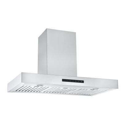 Moderna 36 in. Convertible Wall Mounted Range Hood in Stainless Steel with Night Light Feature
