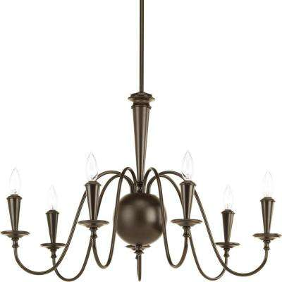 Identity Collection 7-Light Antique Bronze Chandelier