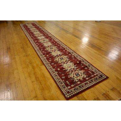 Taftan Oasis Red 3' 0 x 16' 5 Runner Rug