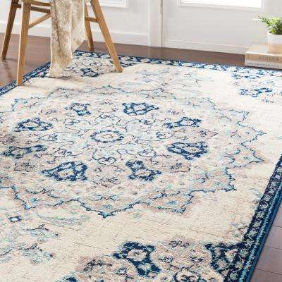 Sora Navy 8 ft. 10 in. x 12 ft. 9 in. Oriental Area Rug