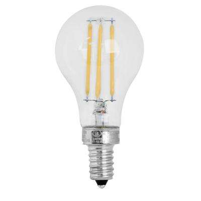 60W Equivalent Soft White A15 Dimmable Clear Filament LED Candelabra Base Light Bulb (Case of 24)