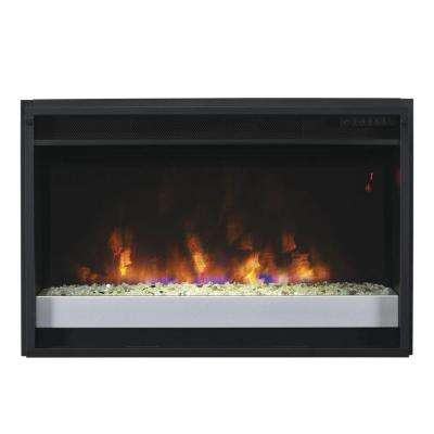 26 in. Contemporary Electric Fireplace Insert with Flush-Mount Trim Kit