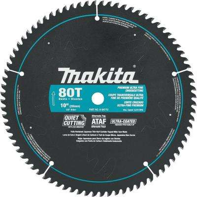 10 in. x 5/8 in. Ultra-Coated 80-Teeth Miter Saw Blade