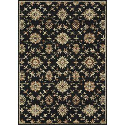 Fairfield Lifestyle Collection Black 5 ft. x 7 ft. 6 in. Area Rug