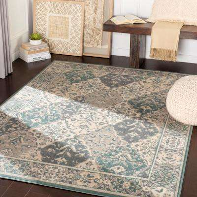 Eveline Teal 2 ft. x 3 ft. Oriental Area Rug