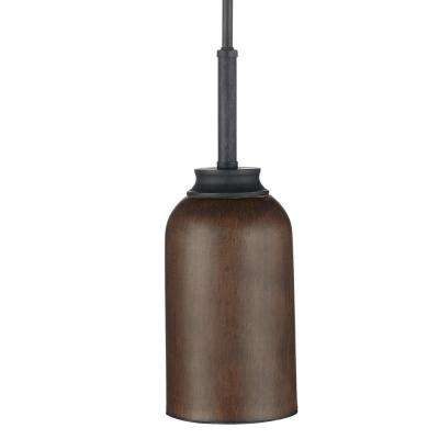 1-Light 9-Watt Gilded Iron Integrated LED Mini Pendant