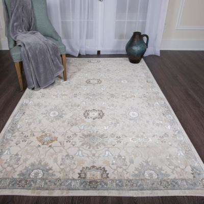 Bazaar Luminous Ivory 8 ft. x 10 ft. Indoor Area Rug