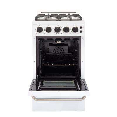 Classic Plus 20 in. 2.3 cu. ft. Gas Convection Range Sealed Burners in White