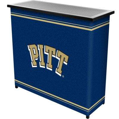 2-Shelf 39 in. L x 36 in. H University of Pittsburgh Portable Bar with Case