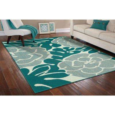 Valencia Teal/Ivory 8 ft. x 10 ft. Area Rug