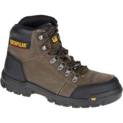 Outline Men's Dark Gull Grey Steel Toe Work Boot
