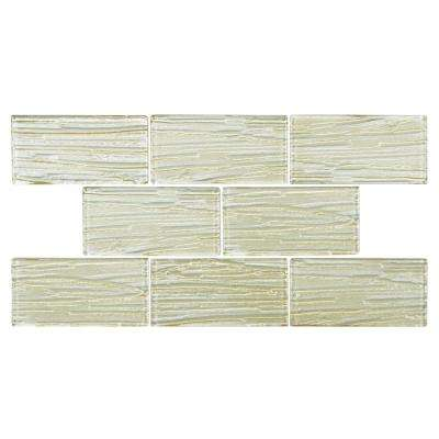 Aspen Subway Cream 3 in. x 6 in. Glass Wall Tile (1 sq. ft. / pack)