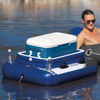 River Run Connect Inflatable Pool Tube (2-Pack) and Mega Chill II Beverage Float