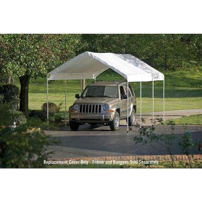 10 ft. W x 20 ft. D Max AP Canopy Replacement Cover in White with 100% Waterproof, UV-Resistant Fabric