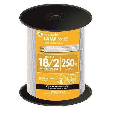 250 ft. 18 Silver Stranded CU Lamp Wire -