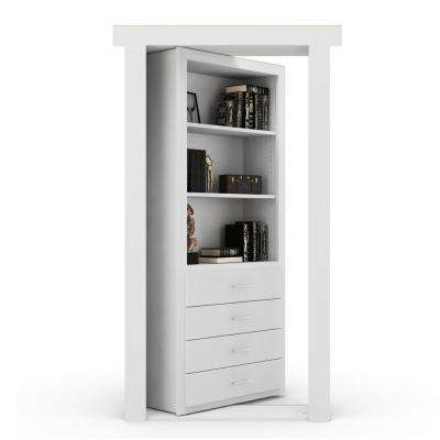 32 in. x 80 in. Flush Mount Assembled Dresser Door Paint Grade White Left-Hand Inswing