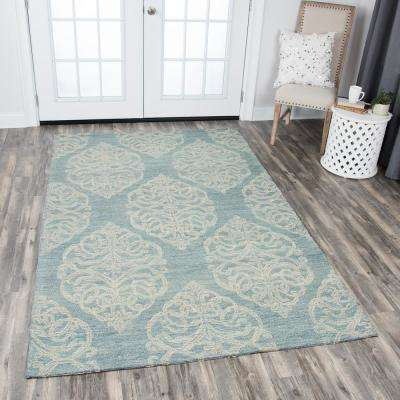 Opulent Light Blue 5 ft. x 8 ft. Rectangle Area Rug