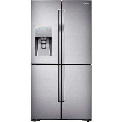 22.5 cu. ft. 4-DoorFlex French Door Refrigerator in Stainless Steel, Counter Depth