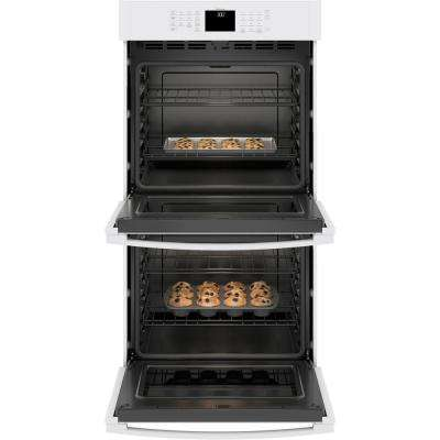 27 in. Smart Double Electric Wall Oven Self-Cleaning with Steam in White