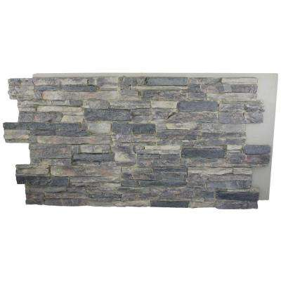 Cliff Grey 24 in. x 48 in. x 1-1/4 in. Faux Grand Heritage Stack Stone Panel