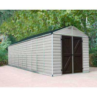 SkyLight 8 ft. x 20 ft. Tan Storage Shed