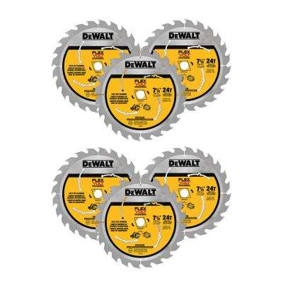 FLEXVOLT 7-1/4 in. 24 Tooth Circular Saw Blade (6-Pack)
