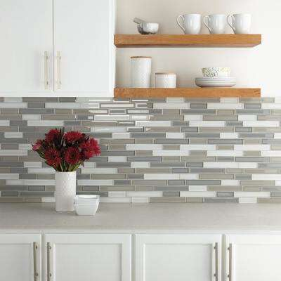 Premier Accents Ocean Linear Random 11 in. x 13 in. x 8 mm Glass Mosaic Wall Tile (0.946 sq. ft. / piece)