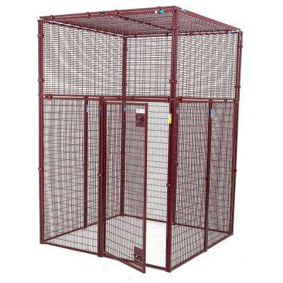 Animal House Heavy Duty 60 in. L x 60 in. W x 90 in. H Flat Covered Enclosure
