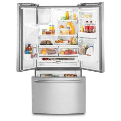 33 in. W 21.7 cu. ft. French Door Refrigerator in Fingerprint Resistant Stainless Steel
