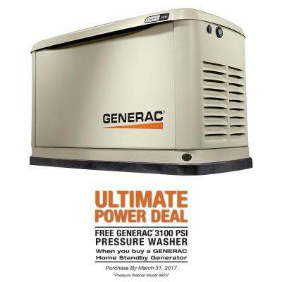 16,000-Watt (LP) 16,000-Watt (NG) Air Cooled Standby Generator