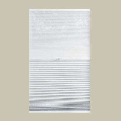 Sheer White/Shadow White 9/16 in. Cordless Day and Night Cellular Shade