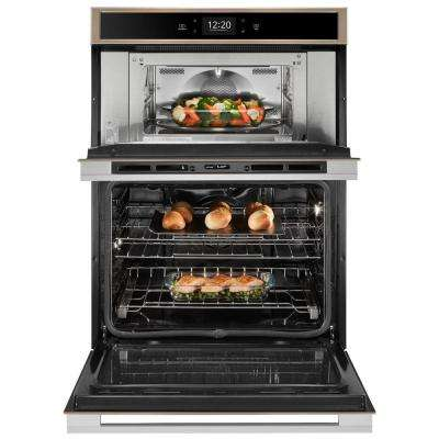 6.4 cu. ft. Smart Combination Electric Wall Oven with Built-In Microwave in Fingerprint Resistant Sunset Bronze