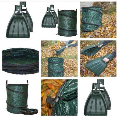 30 Gal. Reusable Pop Up Yard Bag Plus XL Leaf Claws Hand Rake Scoops