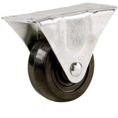 1-1/2 in. Soft Rubber Rigid Caster with 40 lb. Load Rating