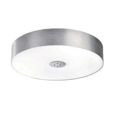 Fresco 1-Light Brushed Nickel Fluorescent Ceiling Flushmount